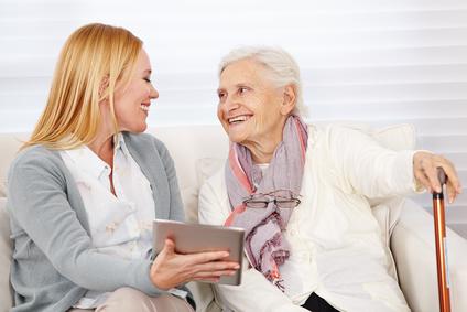 Tablet Befragung auch für alte Patienten